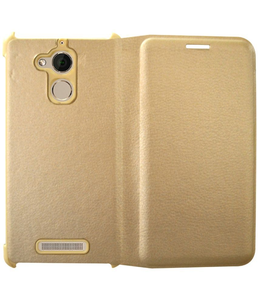 brand new f0748 b33ee Coolpad Note 5 Flip Cover By Rdcase - Golden | Elala