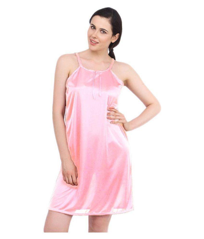 Satin Nighty & Night Gowns-pink | Elala
