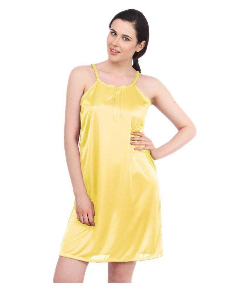 6a08dfa446bc Satin Nighty   Night Gowns - Yellow