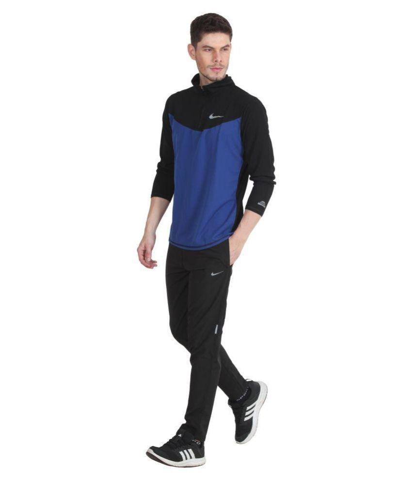 8c0d476e40c11 Nike Black Polyester Lycra Trackpants   Elala