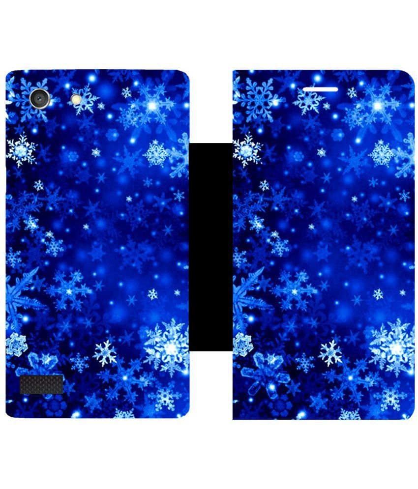 Oppo Neo 7 Flip Cover By Skintice - Blue | Elala