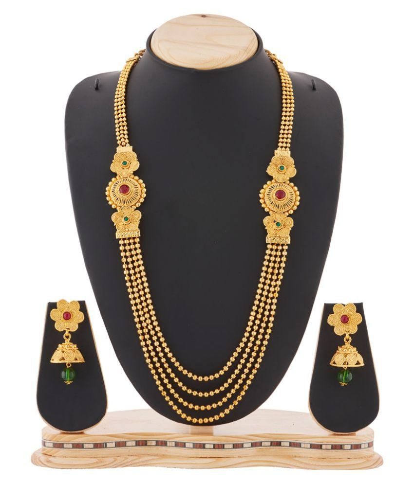kanakratna golden necklace gems product