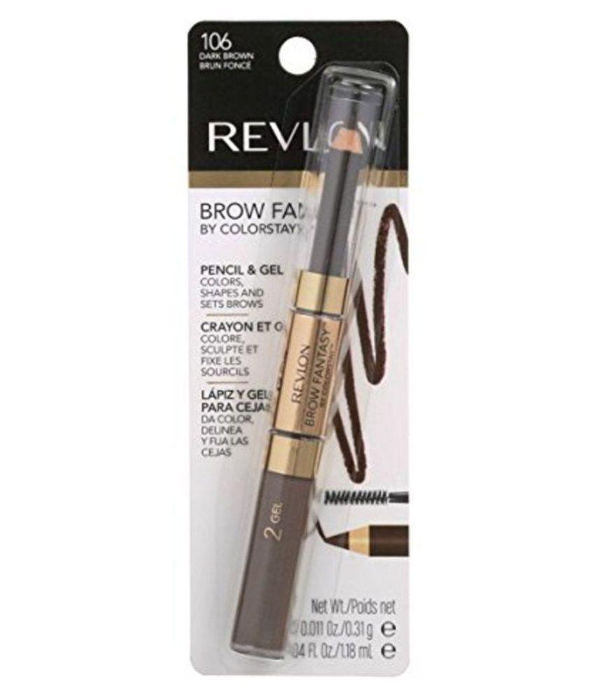 Revlon Colorstay Brow Pencil Fantasy Dark Brown 31 Gm Elala