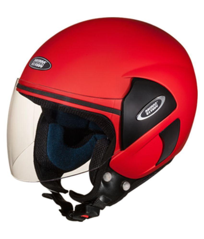 d0cb5798 Studds Cub-matt Sport - Open Face Helmet Dull Red L | Elala