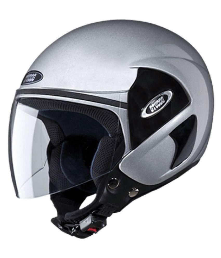 31e92f2a Studds Cub - Open Face Helmet Silver L | Elala