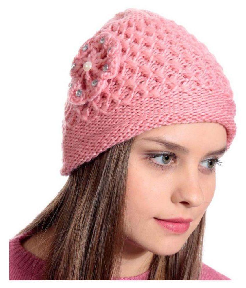 eb90923e38a Peach Woolen Cap For Women - Pack Of 1