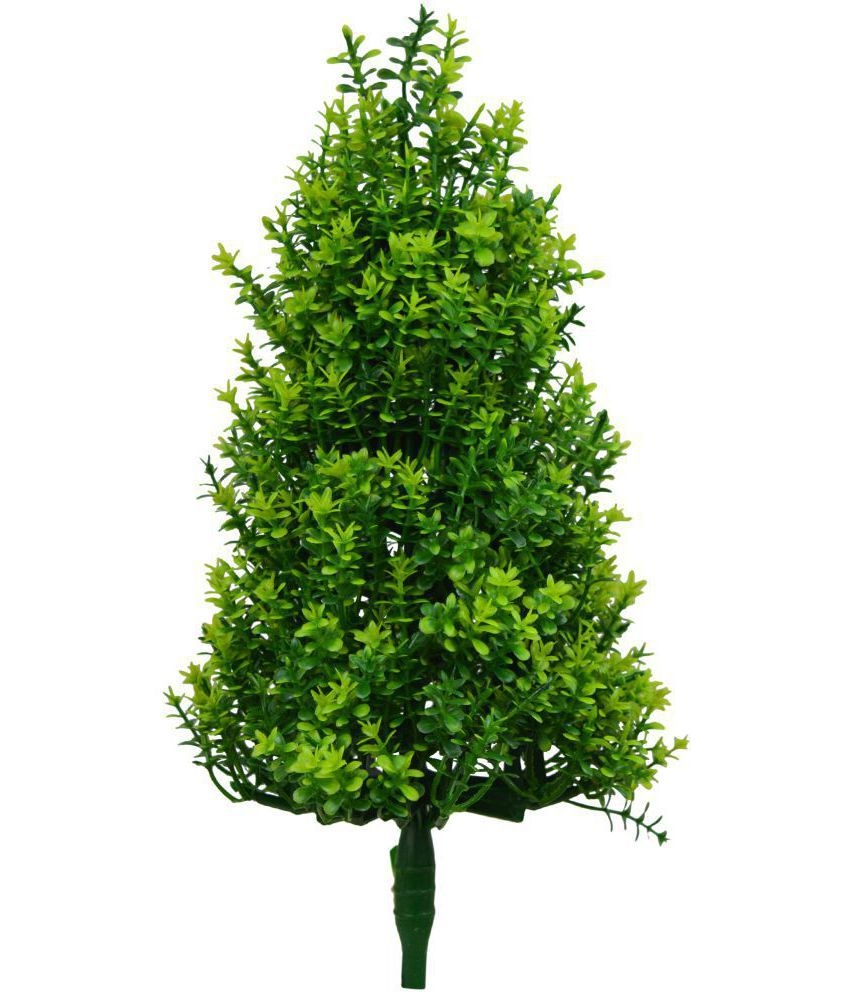 The Fancy Mart Bonsai Artificial Fabric Christmas Tree Green Plants ...
