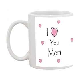I Love You Mom Gift Coffee Mug