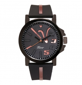 Tueor Black Rubber Wrist Watches For Men 09