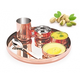 Gurukrupa Copper Plated Buffet Set - 6 Pc