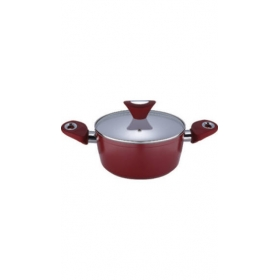 Bergner Ceramic Coated 16 Cm 1.5 L Cook And Serve Casserole With Glass Lid