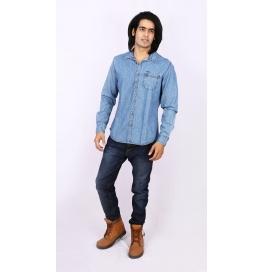 Slim Fit Denim Shirt - Blue