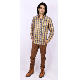 Slim Fit Checks Shirt - Yellow