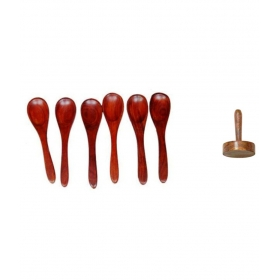Desi Karigar Spoon Set Of 6 And 1 Masher