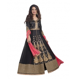 Black Colored Georgette Suit.