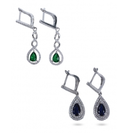 Platinum Plated And Silver Base Earrings Combo Of 2