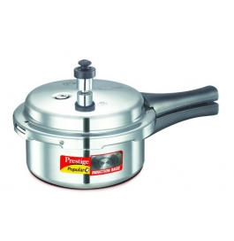Prestige Popular Plus Induction Base Aluminium Pressure Cooker : 2 Liter