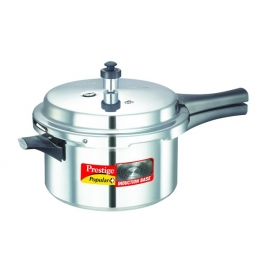 Prestige Popular Plus Induction Base Aluminium Pressure Cooker : 4 Litre