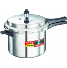 Prestige Popular Plus Induction Base Aluminium Pressure Cooker : 5 Litre