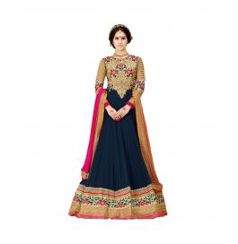 Blue Color Wedding Wear Designer Anarkali Suit