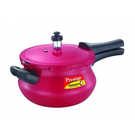 Prestige Deluxe Plus Induction Base Aluminium Pressure Handi - Red : 3.3 Litre