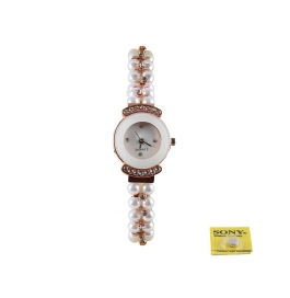 New Fashion Addition Of Embellished Pearl Women's Analouge Watch