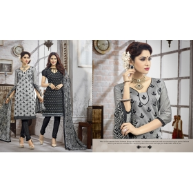 Double Top Daily / Office Wear Dress Materials &8211; 11011