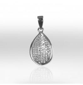 Platinum Plated Polish And Silver Base Pendants