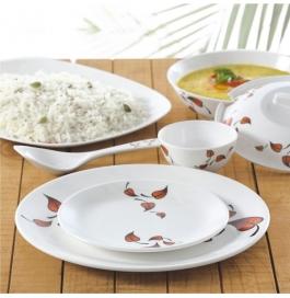 Borosil 35 Piece Melamine Dinnerset Fidenza Round - Leaves