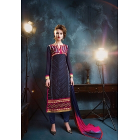Georgette Designer Party Wear Semi Stitched Salwar Kameez &8211, 12005