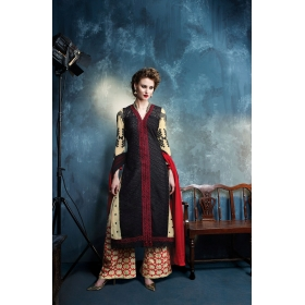 Georgette Designer Party Wear Semi Stitched Salwar Kameez &8211, 12006
