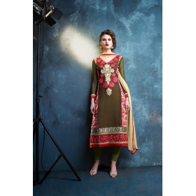 Georgette Designer Party Wear Semi Stitched Salwar Kameez &8211; 12007