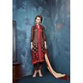 Georgette Designer Party Wear Semi Stitched Salwar Kameez &8211, 12009