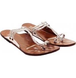 Shopoj Women Silver Flats