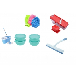 Vinayaka Bonnie Mop With Slicer, Mit, Wiper & 4 Containers