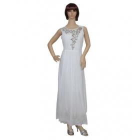 Sarva Partywear Gown White Net