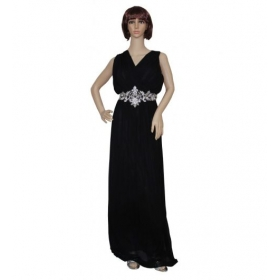Sarva Partywear Gown Imported Black Net