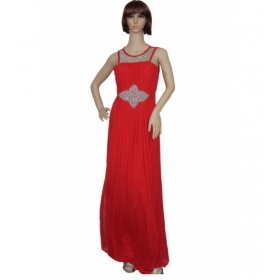 Sarva Partywear Gown Net Red