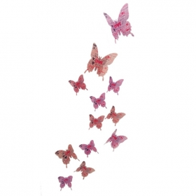 Hd-008 Printed Pink Love Butterfly  Wall Sticker  Jaamso Royals