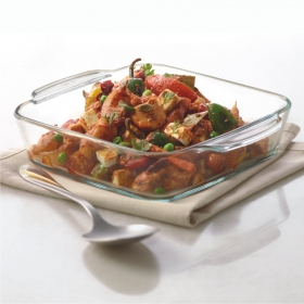 Square Dish With Handle-800 Ml