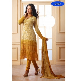 Cream Embroidered Nazneen Casual Straight Salwar Suit