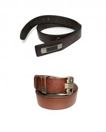 Men Formal  Genuine Leather Belt- Pack Of  2