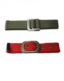 Boys Casual Red & Green  Color Canvas Belt