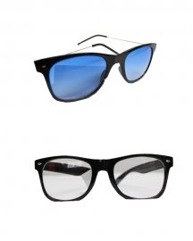 Wayfarer Sunglasses (blue & White)