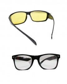 Night Drives Wayfarer Sunglasses (yellow & White)