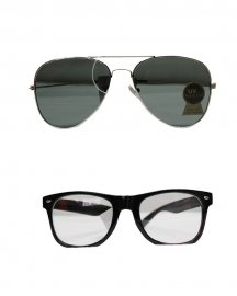 Wayfarer & Flat Aviator Sunglasses  ( Black,white)