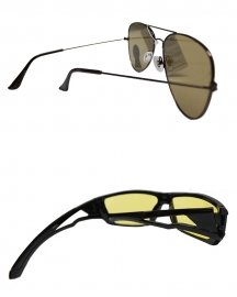 Combo Of Flat Aviator & Night Vission Sunglasses