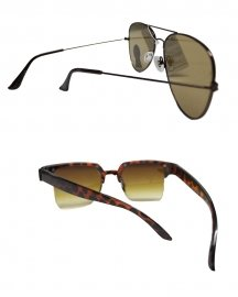 Wayfarer & Flat Aviator Sunglasses  ( Pack Of 2)