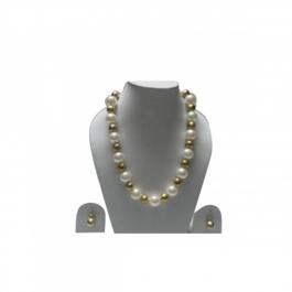 Durga Fashion White & Golden Color Elegant Necklace
