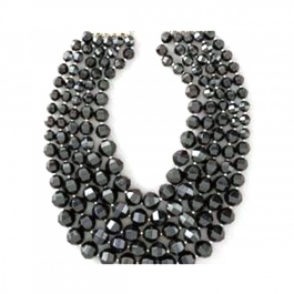 Durga Fashion Black Color Beads Necklace